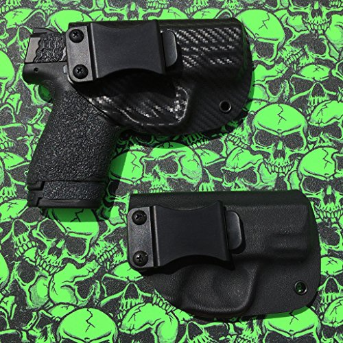 Ruger LC9 / LC380 / LC9s IWB Kydex Holster [Right, Black, Laser Max Green] (Laser Lc9 Green)