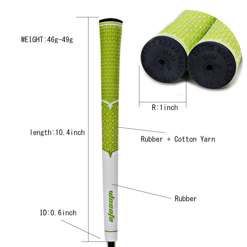 wosofe Golf Grips-Golf Club Grips for Men Golf Iron Grip Set Soft Non-Slip Wear Resistant Rubber Golf Grips (Green/1pcs) by wosofe (Image #3)
