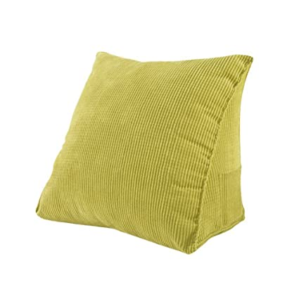 Awe Inspiring Joyful Store Corduroy Triangle Pillow Waist Sofa Bed Office Chair Wedge Cushion Elevating Leg Back Rest Support Pillow Green L 18 5X17 7X9 1 Gmtry Best Dining Table And Chair Ideas Images Gmtryco