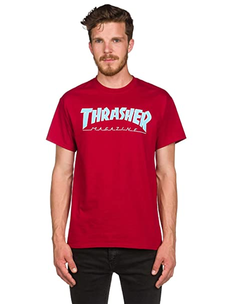 t-shirt trasher rosso red