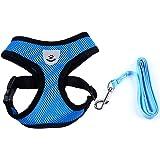 Meeyou Little Pet Adjustable Mesh Harness with leash
