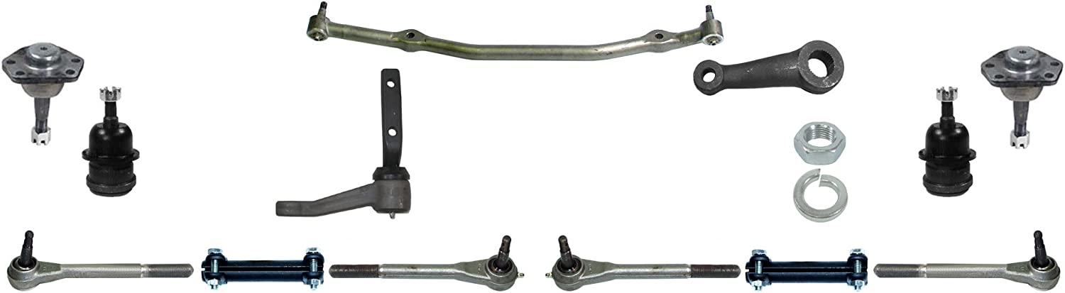 NEW MANUAL STEERING KIT,PITMAN ARM,DRAG LINK,IDLER ARM,TIE RODS,71-72 CHEVELLE