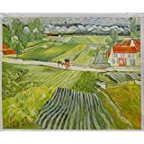 A Road in Auvers After the Rain - Vincent Van Gogh High Quality Hand-painted Oil Painting Reproduction (28.35 X 35.43 In.)