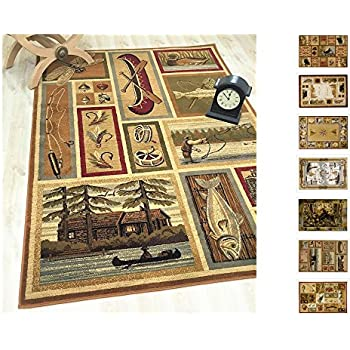 Amazon Com Handcraft Rugs Cabin Rug Lodge Cabin