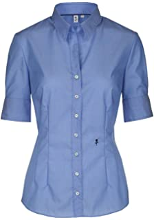 ea5a281ba9fd1c Seidensticker Damen Bluse – Bügelfreie, schmal taillierte Hemdbluse mit  Hemdblusen-Kragen und Kragen-