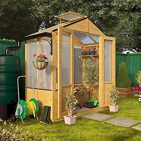 Desconocido Lincoln BillyOh 91, 44 cm x 182, 88 cm de Madera con Rejilla de Apertura de Techo de policarbonato para invernaderos: Amazon.es: Jardín