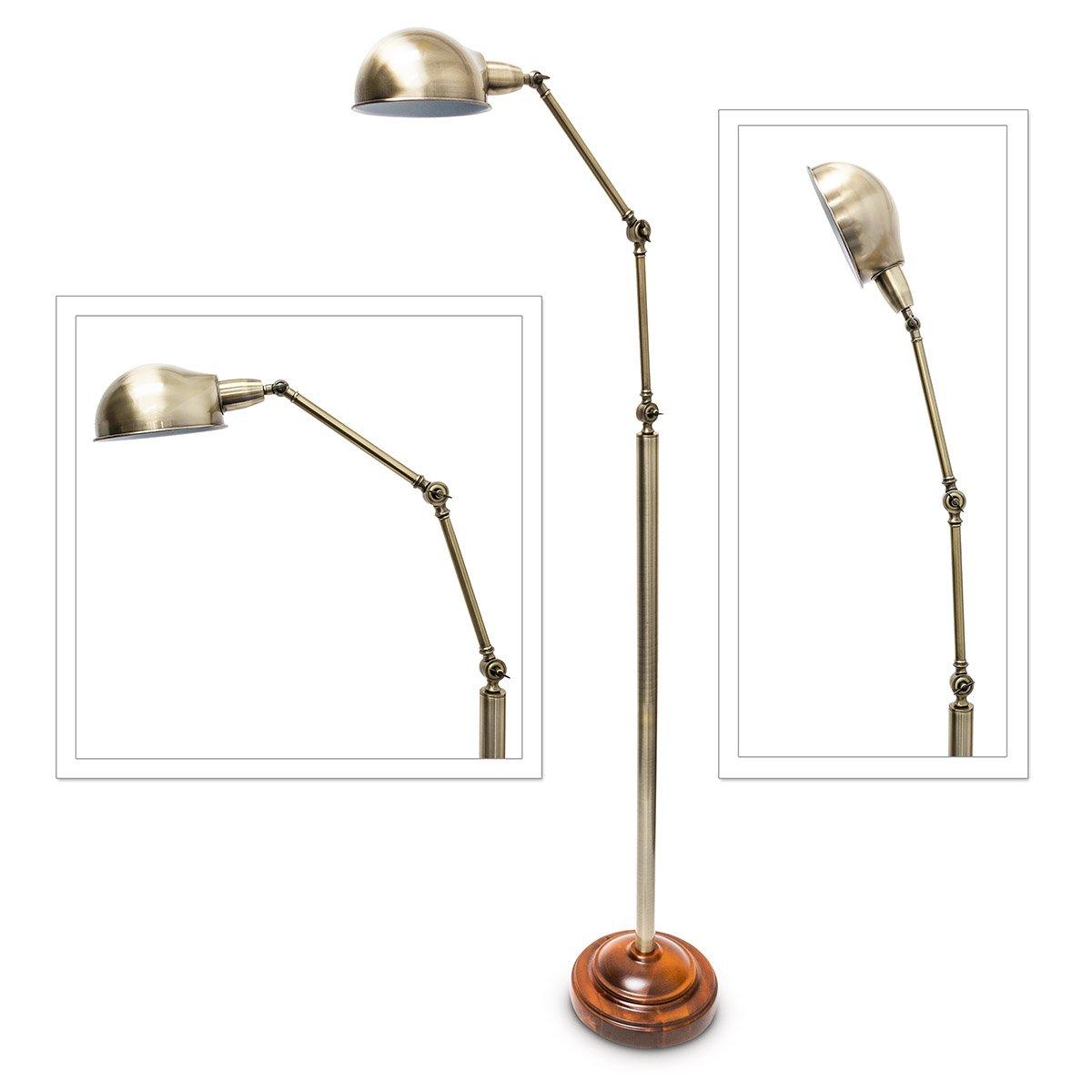 Wunderbar Stehlampe Industrial Beste Wahl Relaxdays Im Look 179 Cm Verstellbar Metall-holz