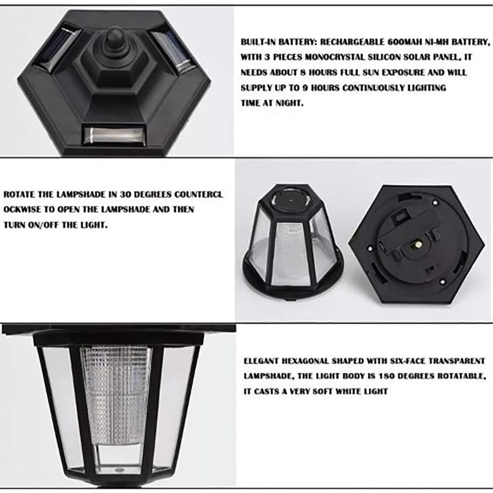 foreverH LED Cast Aluminum Solar Post Light Fixture Cap Lights with 3-Inch Fitter Base for Outdoor Garden Post Pole Mount (Black)