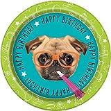 Pug Puppy Birthday Dinner Plates, 8ct