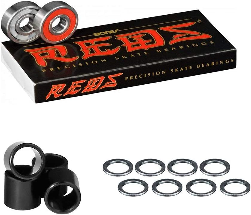Bones Reds Bearings With Spacers and Washers