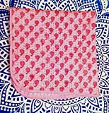 Baby Pink, Indian Block Print Fabric Baby Quilt, Kantha Throw, Cotton Fabric Kids Bedding, Bohemian Bedspread