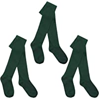 I.L.C.K Girls 3 Pairs Back To School Plain Cotton Rich Tights