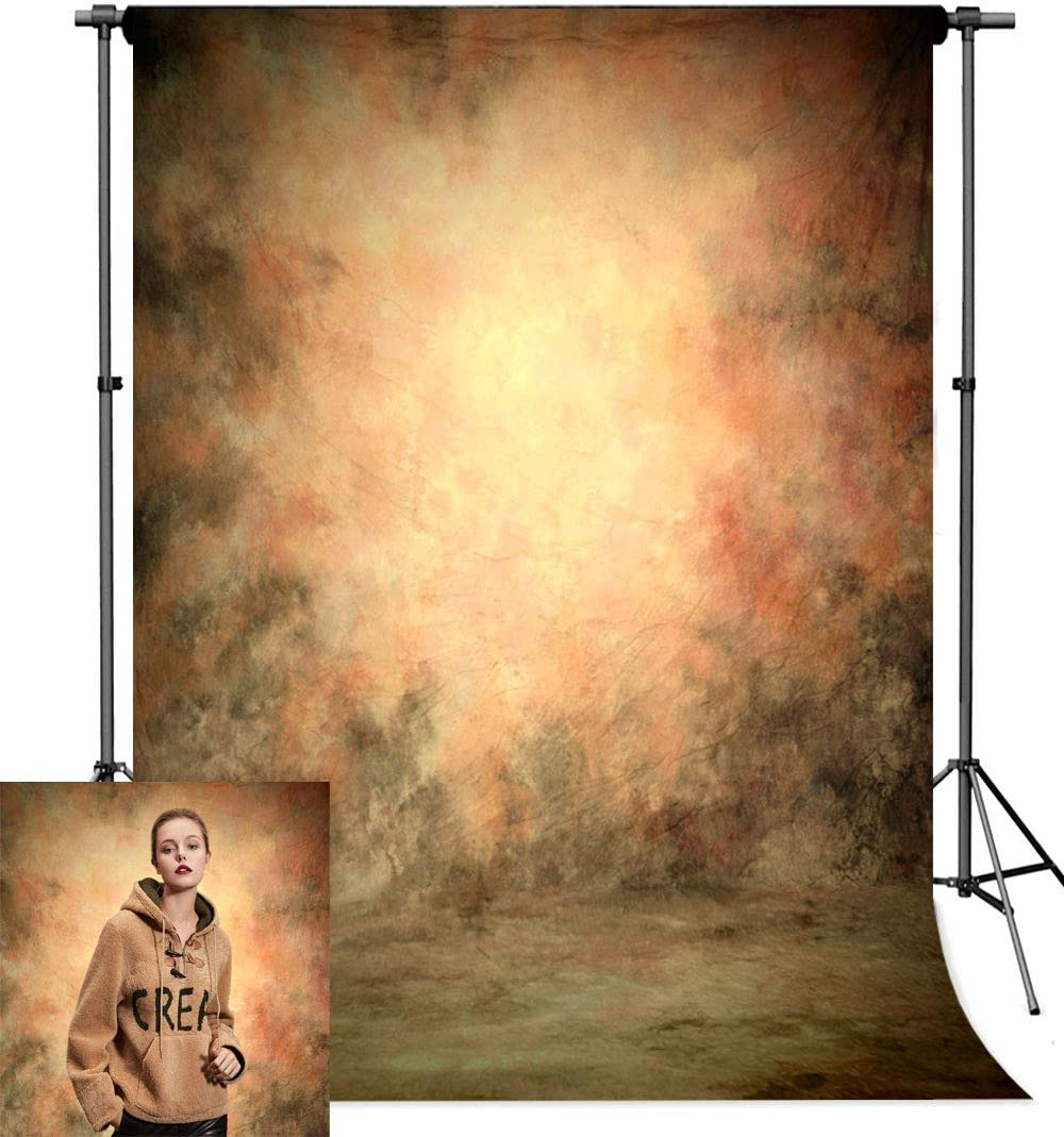 Photo Backdrop, econious 5x7ft Abstract Oil Painting Portrait Backdrop for Photography, Resistant Fleece-Like Cloth Fabric, with Rod Pocket (Backdrop Only)