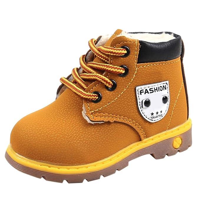 ❤ Botas de Estilo británico para niños, Bebé Niños Chicos cálidos Chicas Zapatilla de Nieve Botas de Nieve Niños Bebé Zapatos Casuales Absolute: ...
