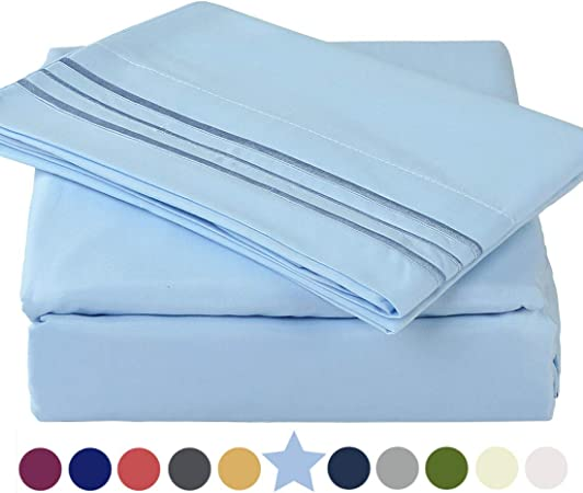 Made Of 1800 Thread Count 100/% Microfiber Polyester Super Soft Twin XL Size Bed Sheet Set Hypoallergenic Cooling Wrinkle and Fade Resistant Breathable - TEKAMON White 10-16 Extra Deep Pockets Warm Silky-smooth 3 Piece