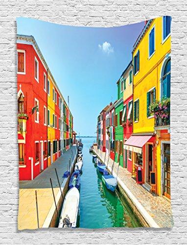 Pictures Colorful Venetian Gondolas Artistic