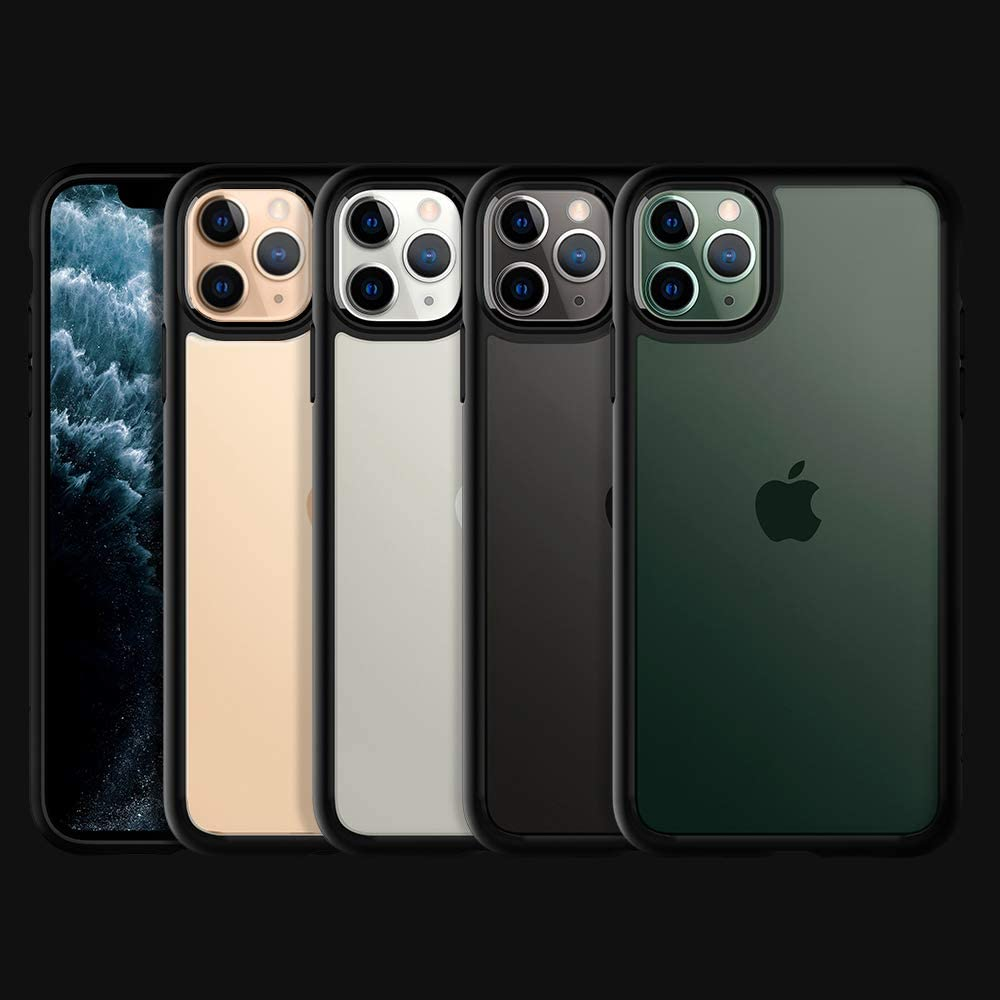 Clear Back Compatible with iPhone 11 Pro Max 2019 Spigen Ultra Hybrid Designed for iPhone 11 Pro Max Case Cover with Shockproof Air Cushion Black