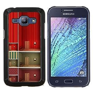 Stuss Case / Funda Carcasa protectora - Minimalista Wallpaper profundo Diseño - Samsung Galaxy J1 J100