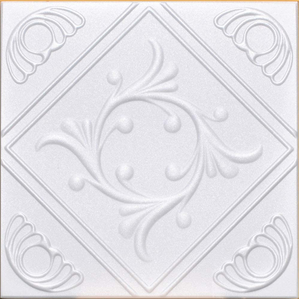 White Styrofoam Decorative Ceiling Tile Anet Package of 8 Tiles Each of ~20x20 Other Sellers Call This Diamond Wreath and R02