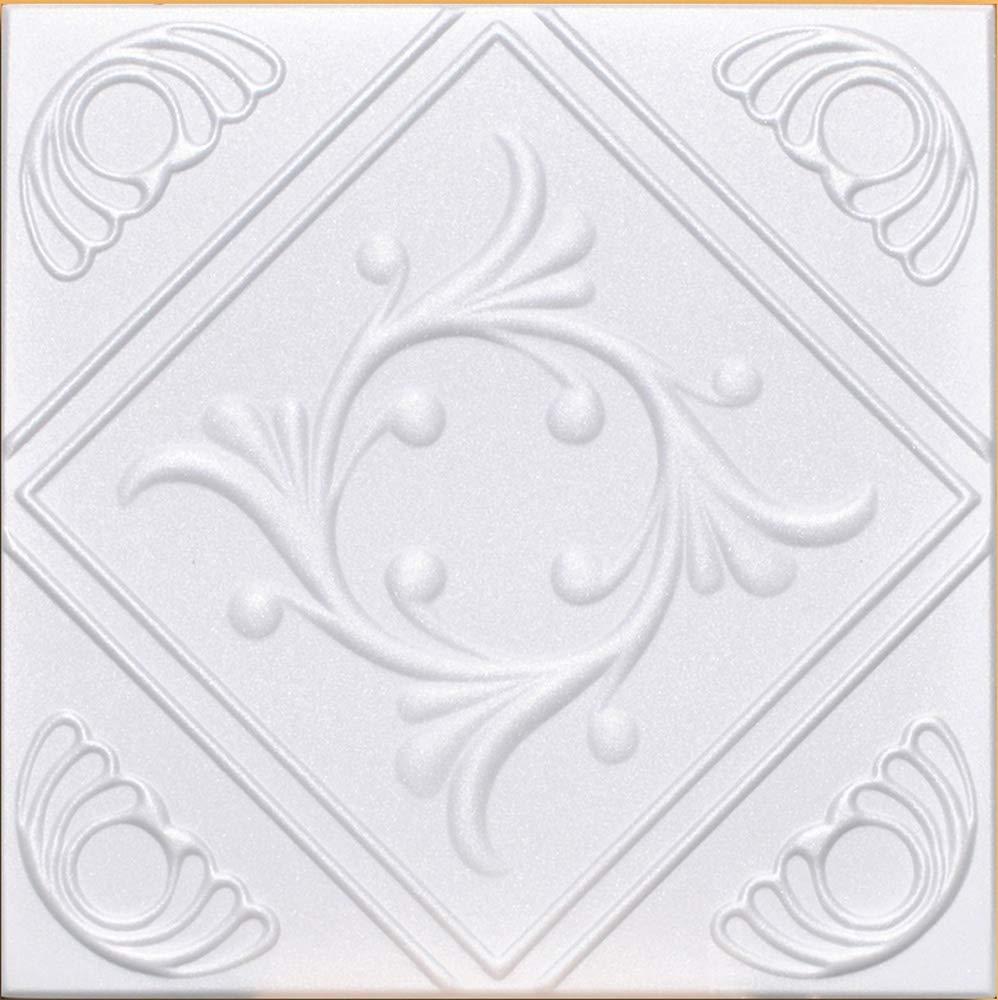 40pc Box of R 02 Styrofoam Direct Glue Up Ceiling Tile 20x20