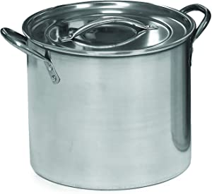 IMUSA USA L300-40316 Stainless Steel Stock Pot with Lid 16-Quart, Silver