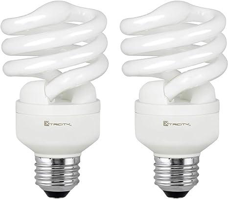 2700K 100-Watt Equivalent T2 Spiral CFL Light Bulb Soft White 4-Pack