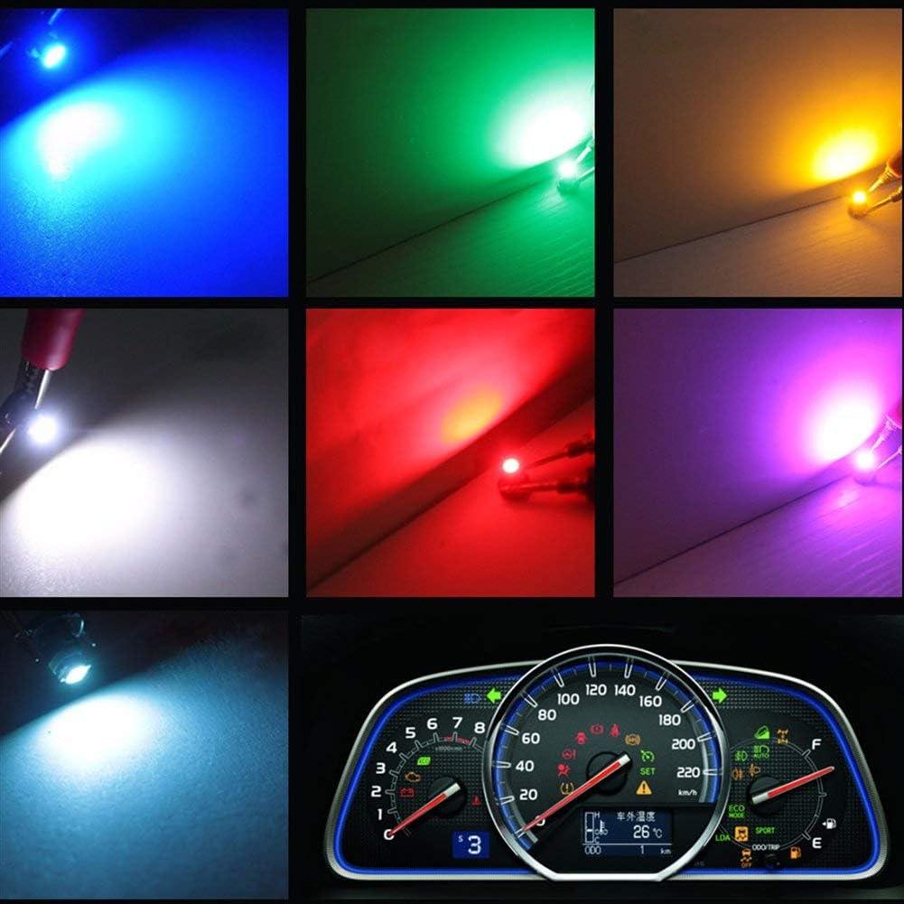 sourcing map 12Pz 12V T3 1206-ghiaccio SMD LED Blu Auto Interno Pannello cruscotto Lampadina Luce