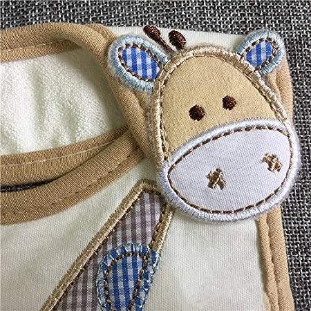 Jirafa LAAT Babero Impermeable para Beb/é Unisex Bufandas de Algod/ón Suaves para Ni/ño size S
