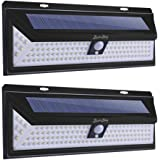 Solar Lights Outdoor 118 LED,2win2buy Solar Motion Sensor Lamp, IP65 Waterproof /3 Optional Modes Security Lights for Wall, Driveway, Patio, Yard, Garden, Fence (2 Pack)