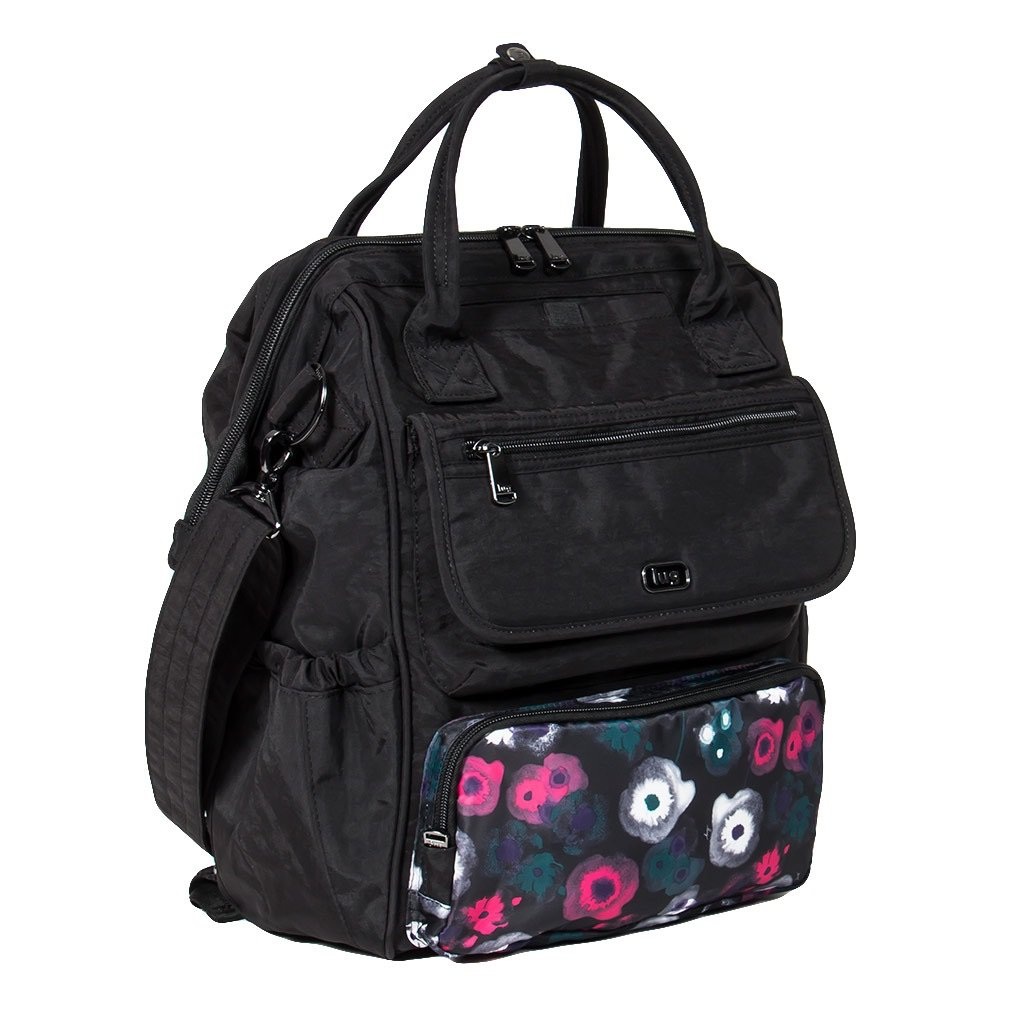 Lug Women's Via Tote Backpack, Multipurpose Luggage, Midnight Floral Watercolor