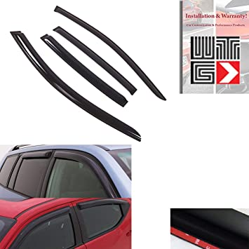 ICBEAMER 4 pcs Side Window Visors Deflectors for 2014 2015 Toyota Corolla 4 Doors Sedan Vent Visor Sun//Rain Guard Set