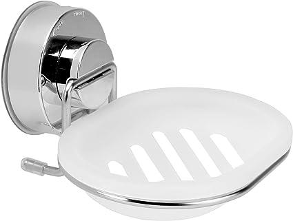 porte savon a ventouse porte savon mural aucune fixation necessaire porte savon avec drainage accessoires de salle de bain m w