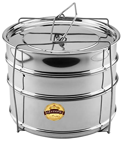 GESTIONE Cooker Separator Set (3 Containers) Suitable for 10 Ltrs Prestige/Similar Sized Outer Lid Pressure Cookers
