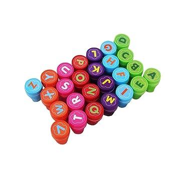 Amosfun 26 unids Lindo 26 Sellos de Alfabeto Conjunto Carta ...