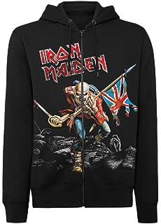 Amazoncom Iron Maiden Mens Trooper Hoodie Sports Outdoors