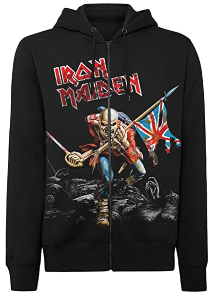Iron Maiden Scuffed Trooper Capucha Sudaderas: Amazon.es: Ropa y accesorios