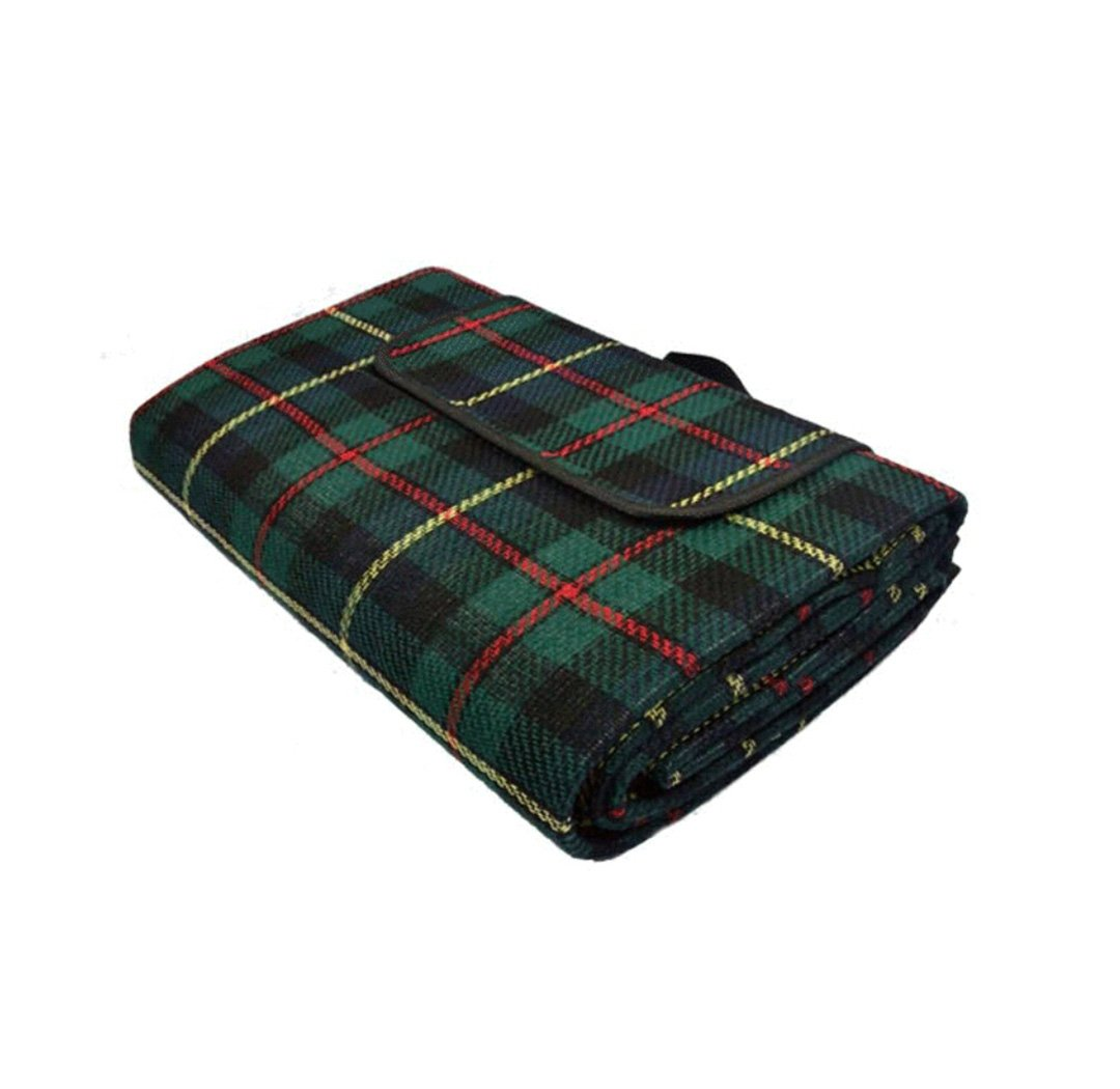 Extra Large Picnic Blanket with Waterproof Backing Lightweight Portable Striped Perfect for Outdoor, Beach and Camping Tote Rug Mat(195 x 150cm) (green) by Alishare