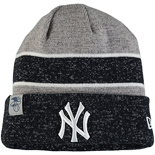 New Era Knit New York Yankees Biggest Fan Redux Sport Knit Winter Stocking Beanie Pom Hat Cap MLB New Era Winter
