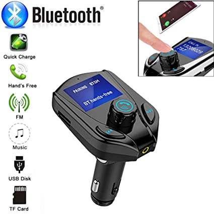 Wireless Bluetooth CarFM Transmitter MP3 USB LCD Handsfree Kit For Mobile Phone