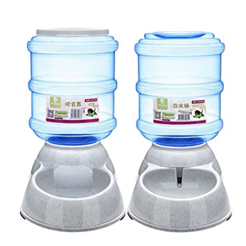 ED-Lumos Alimentador Automático para Mascotas Dispensador de alimento Agua Perro Gato Bebedero y Comedero Plástico alimentario 3.5L: Amazon.es: Productos ...