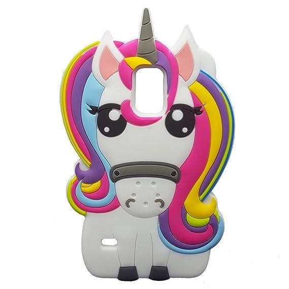 Amazon Com Rainbow Unicorn Samsung Galaxy S5 Case Awin 3d Cute