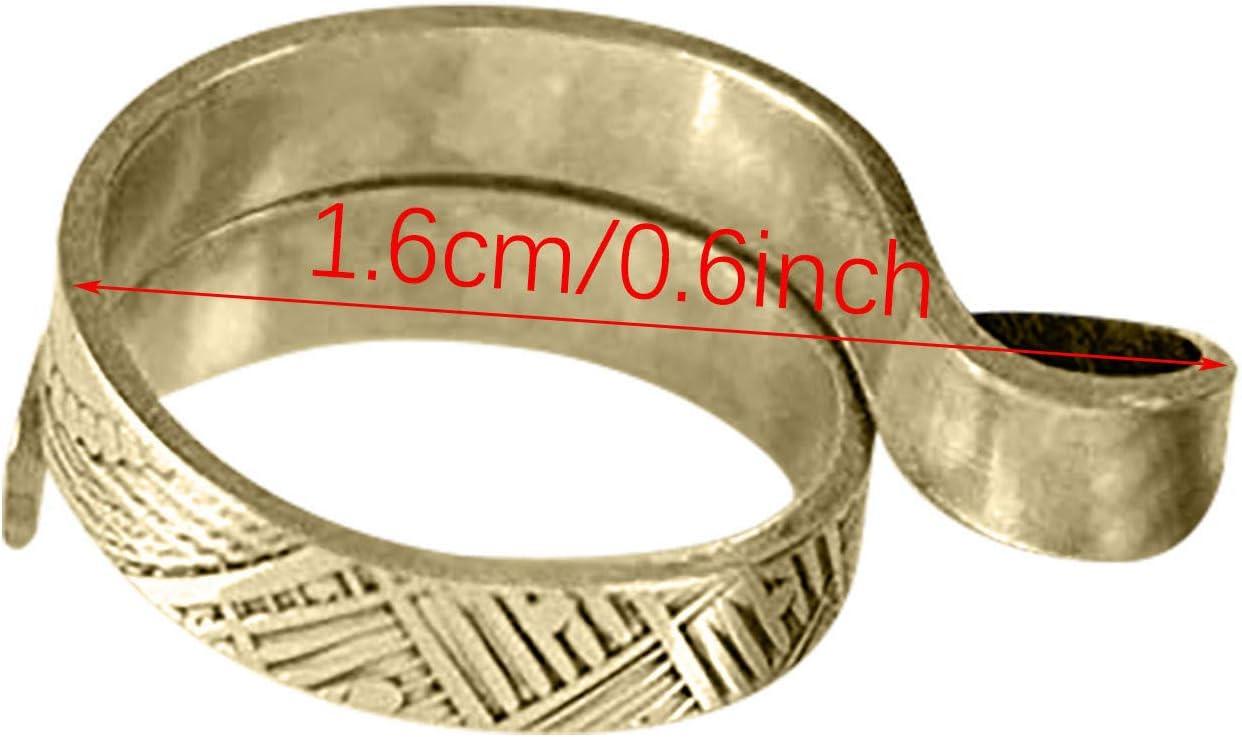 accesorios de costura Hutcuo Anillo ajustable para tejer con lazo de ganchillo accesorio para tejer dedal ala de /ángel, 1 unidad accesorios para tejer artesan/ías