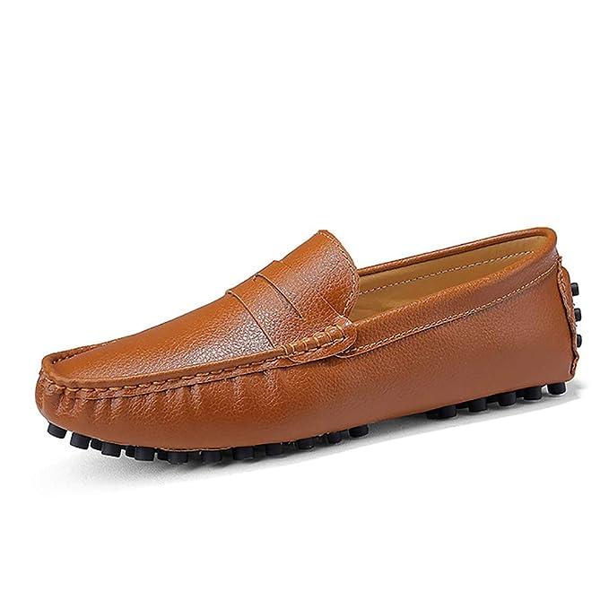 Hombre Informal Sin Cordones Mocasines Calzado de cuero de