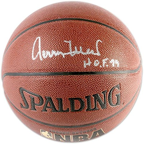 Jerry West Los Angeles Lakers Autographed Spalding Indoor Outdoor Basketball with HOF 80 Inscription - Fanatics Authentic Certified