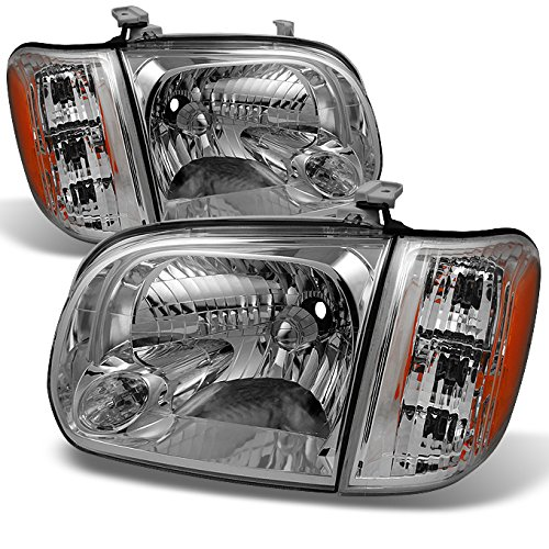 - For 2005 2006 Toyota Tundra Double | Crew Cab Headlights With Corner Lights Driver + Passenger Side Pair