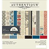 Authentique Paper ABR014 Abroad Bundle Cardstock Pad, 6 by 6-Inch, 24-Sheet