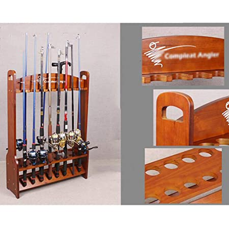 Amazon Com Xing Hua Shop 16 Solid Wood Fishing Rod Storage Rack