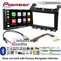 Volunteer Audio Pioneer AVH-W4400NEX Double Din Radio Install Kit with Wireless Apple CarPlay, Android Auto, Bluetooth Fits 2009-2016 Nissan Maxima