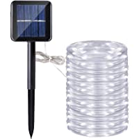 Manguera led solar, DINOWIN 72ft/22M 200leds Guirnaldas Luminosas Solares de Cuerda, Exterior led Luces decorativas…
