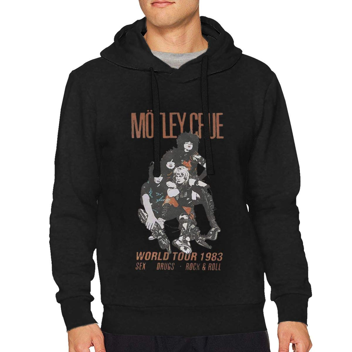 Men's Motley Crue T Shirt Distressed Vintage World Tour Logo Sweatshirt